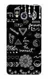 Tecozo Designer Printed Back Cover/Hard Case for Samsung Galaxy J3 Pro (Live in The Moment Design/Quotes) - Black