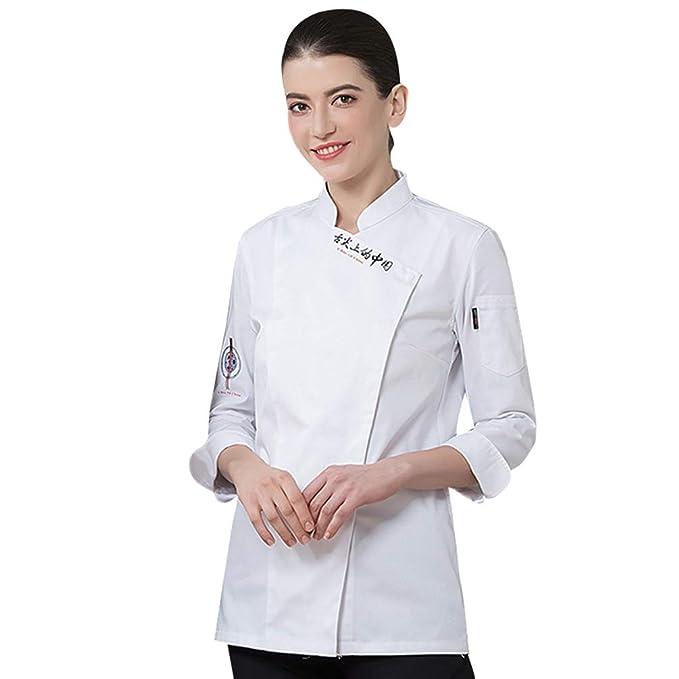 Dooxii Unisex Donna Uomo Autunno Manica Lunga Giacca da Chef Professionale  Torta di Cottura Mensa Hotel Uniformi Divise da Cuoco  Amazon.it   Abbigliamento 66bffadcf414