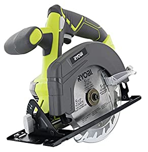 "Ryobi One P505 18V Lithium Ion Cordless 5 1/2"" 4,700 RPM Circular Saw (Battery Not Included, Power Tool Only), Green from Ryobi Ltd"