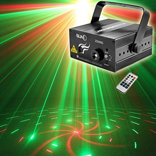 SUNY 20-Gobos Effect Red/Green Laser Blue LED Projector Stage Light [並行輸入品]   B078HX1QST