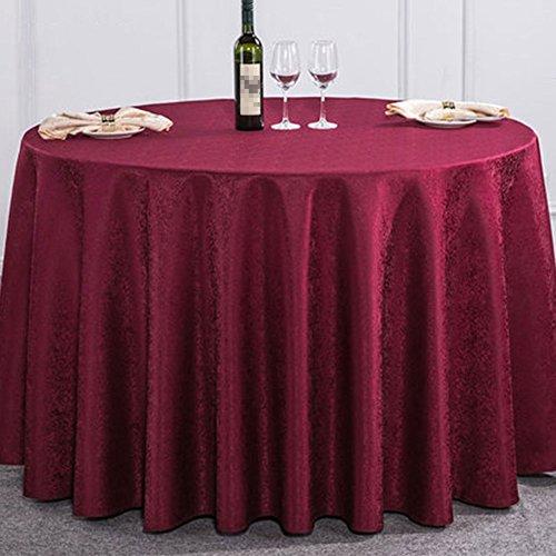 Lshel Beige Table De Vineux Floral Rouge Et D'hôtel Double Rond Ronde Nappe 380cm Carrée fqrwFPf