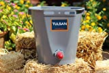 Single Calf bucket feeder with metal handle and mounting by TULSAN