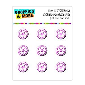 Flower Pink - Home Button Stickers Fit Apple iPhone (3G, 3GS, 4, 4S, 5, 5C, 5S), iPad (1, 2, 3, 4, mini), iPod Touch (1, 2, 3, 4, 5) by icecream design