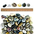 Galashield River Rocks Polished Pebbles Decorative Stones Natural Aquarium Gravel (5 lb Bag)
