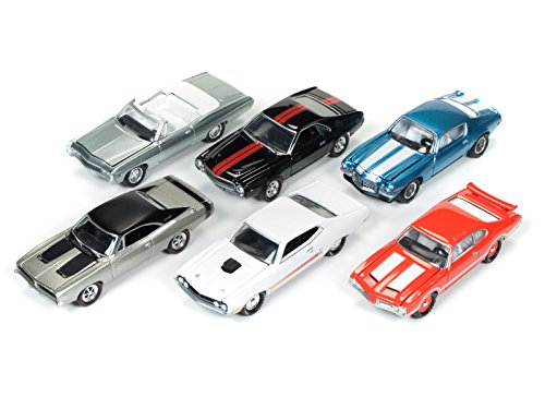 Muscle Cars USA 2017 Set of 6 cars Release C 1/64 by Johnny Lightning JLMC003-C