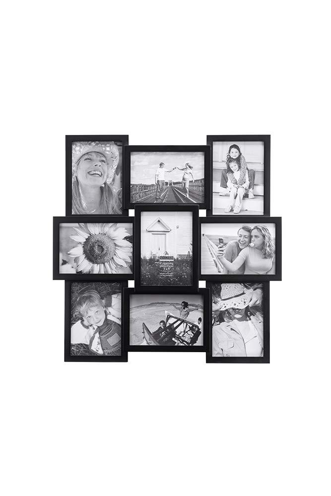 Malden International Designs Crossroads Puzzle Collage Picture Frame, 9 Option, 9-5x7, Black - 2119-957 by Malden International Designs