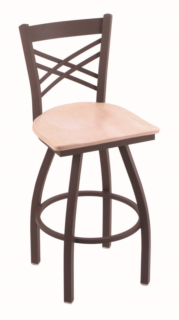 Holland Bar Stool Co. 820 Catalina 36'' Bar Stool with Bronze Finish and Swivel Seat, Natural Maple by Holland Bar Stool