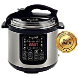 MegaChef 8 Quart Digital Pressure Cooker with 13 Pre-set Multi...