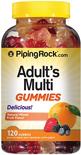 Piping Rock Adult Multivitamins 120 Gummies Natural Flavor Multiple Vitamin & Mineral Supplement