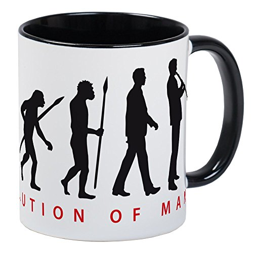 CafePress Evolution Of Man Clarinet Player Mugs Unique Coffee Mug, Coffee Cup