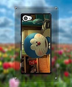Sony Z5 Compact Funda Case, Cartoon Doraemon Customized Funny Anti Scratch Exclusive Cool Pattern Slim Fit Tough Hard Back Film Protector Funda Case For Sony Xperia Z5 Compact [Just fit for Z5 Compact]