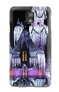 SMvsNeF9880XlAGj Case Cover Disneyland Christmas Castle S Galaxy Note 3 Protective Case