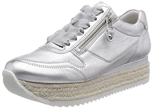 Zapatillas para und Kennel Schmenger Plateado Bastsohle Mujer Weiß Beach 404 Silver xqSxRn