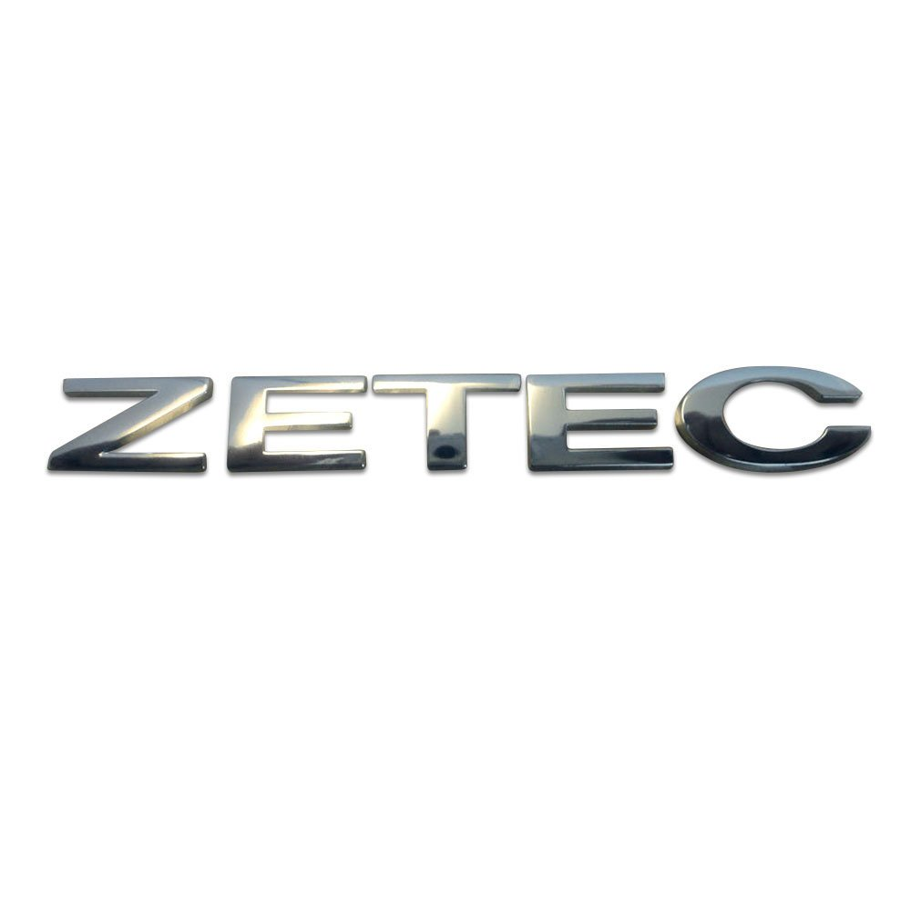 Genuine Ford Branded Silver Tailgate 'ZETEC' Badge - Only for OE Number 1495741 Perrys