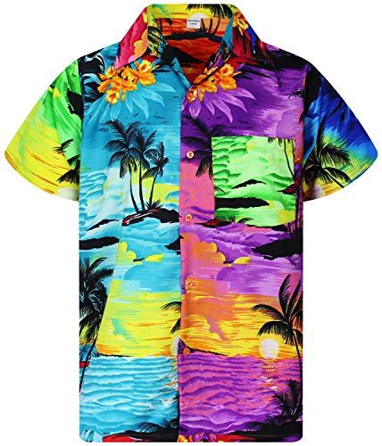 V.H.O. Funky Hawaiian Shirt, Shortsleeve, Mondy Surf, Multicolored, XXL]()