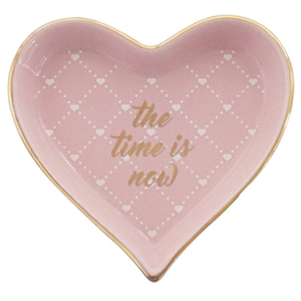 Amazon.com: Ring Dish Ceramic Jewelry Holder Tray Golden Heart ...