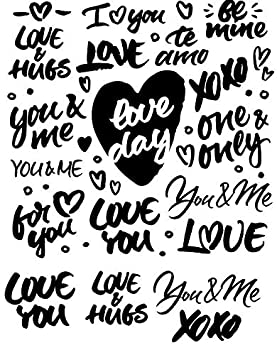 99104530 to Choose from Waterslide Decal Images Enamel Decal Enamel Glass Decal Words of Love or Glass Fusing Decals 3 Different Size Sheet Choose Either Ceramic Ceramic Decal