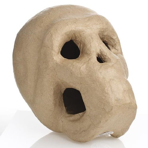 100% Natural, Biodegradable and Eco-friendly Paper Mache Skull-