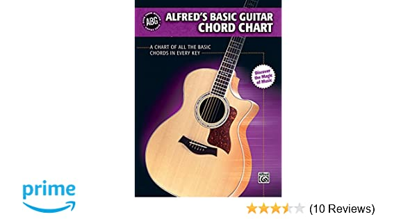 Alfred S Basic Guitar Chord Chart A Chart Of All The Basic Chords