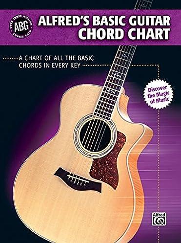 alfred s basic guitar chord chart a chart of all the basic chords rh amazon com guitar magic chord accompaniment guide Dragon Guitar Chords