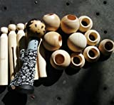 Clothes Pin Doll Supplies - Makes 10 Dolls
