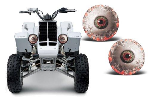 (AMR Racing ATV Headlight Eye Graphic Decal Cover for Yamaha Banshee 350 87-05 - Spliced)