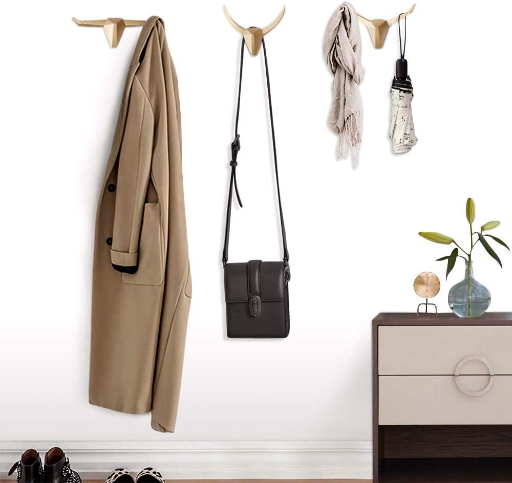 Tierkopf Haken Heiße Wand Dekor Mantel Hut Jacken Handtaschen Aufhänger Weiß D1