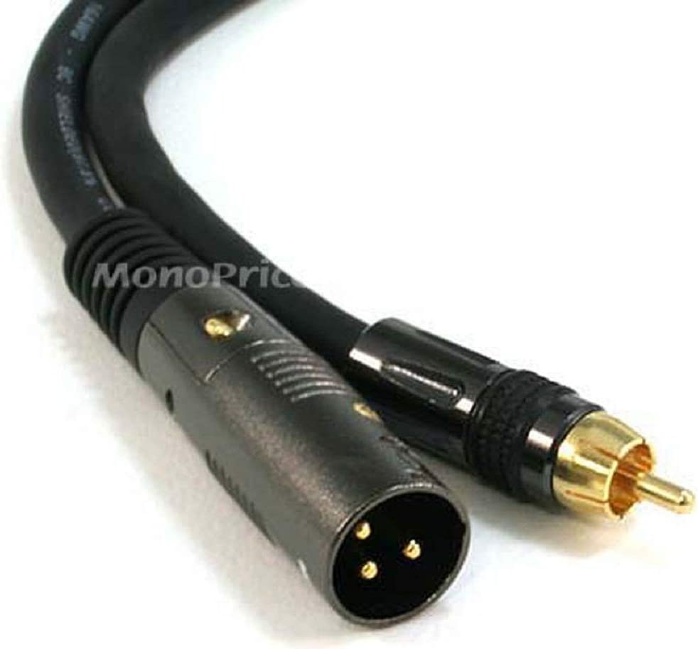 Premier Series XLR Female to RCA Male 16AWG Cable 6 Feet C/&E 2 Pack CNE601700