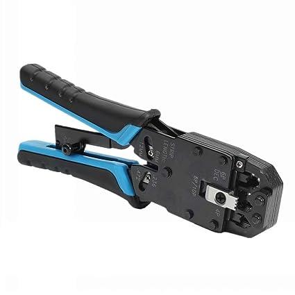 Herramienta de alicates para engarzadora de cable de red Lifreer de 8 pulgadas para conector 10P