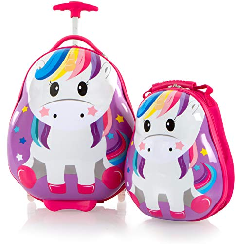 Heys America Travel Tots 18 Inch Luggage with Backpack for Kids - Unicorn