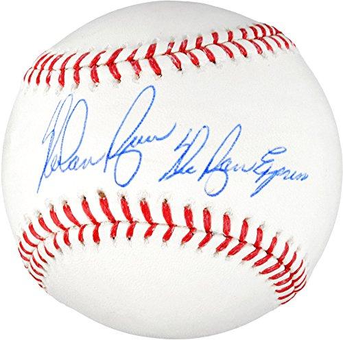 Ball Nolan Ryan (Nolan Ryan Texas Rangers Autographed MLB Baseball with Ryan Express Inscription - Fanatics Authentic Certified)