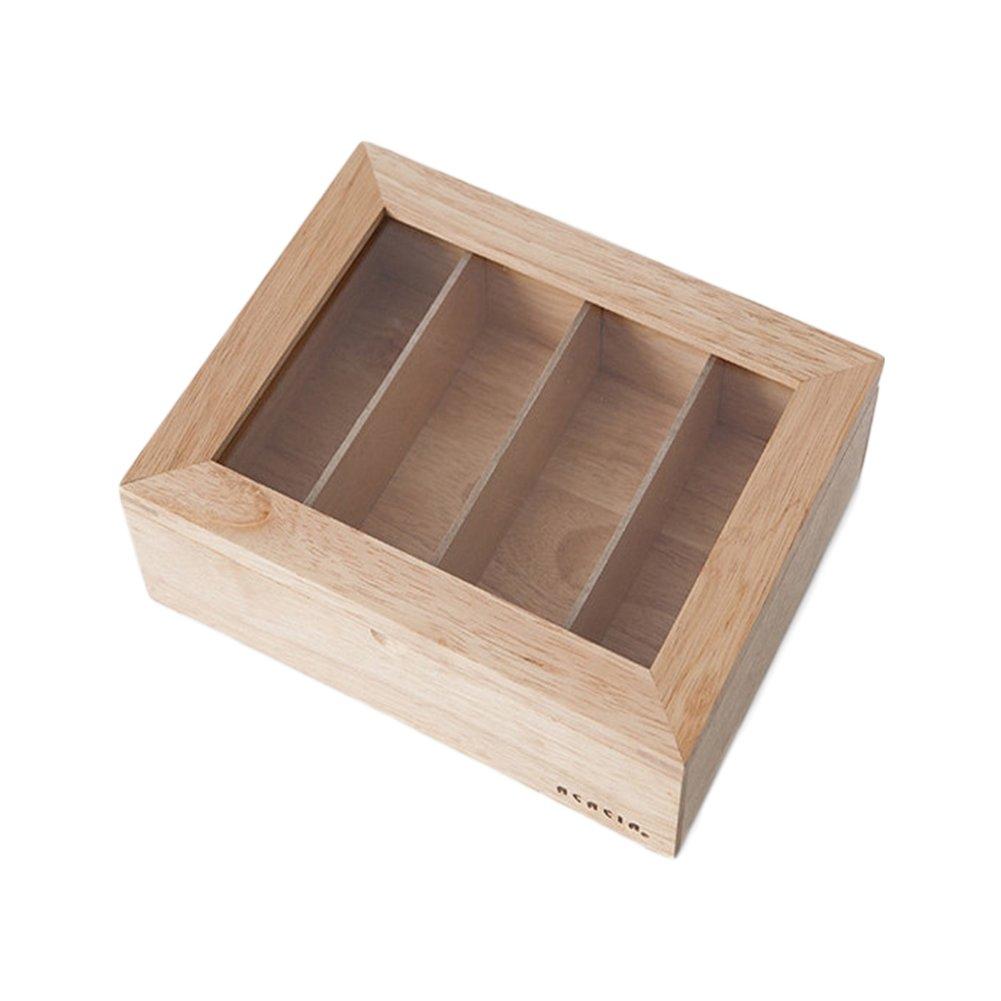 CNC-216 Wooden Sunglasses Case / Small Storage Box (8.7 X 6.8 X 2.7 Inch)