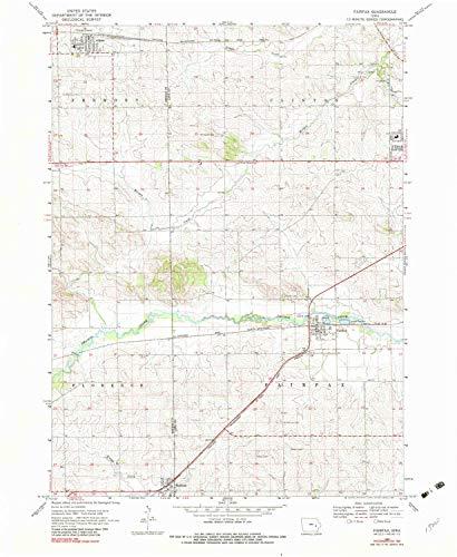 YellowMaps Fairfax IA topo map, 1:24000 Scale, 7.5 X 7.5 Minute, Historical, 1968, Updated 1983, 26.9 x 22.1 in - Tyvek (Fairfax Dark Cherry)