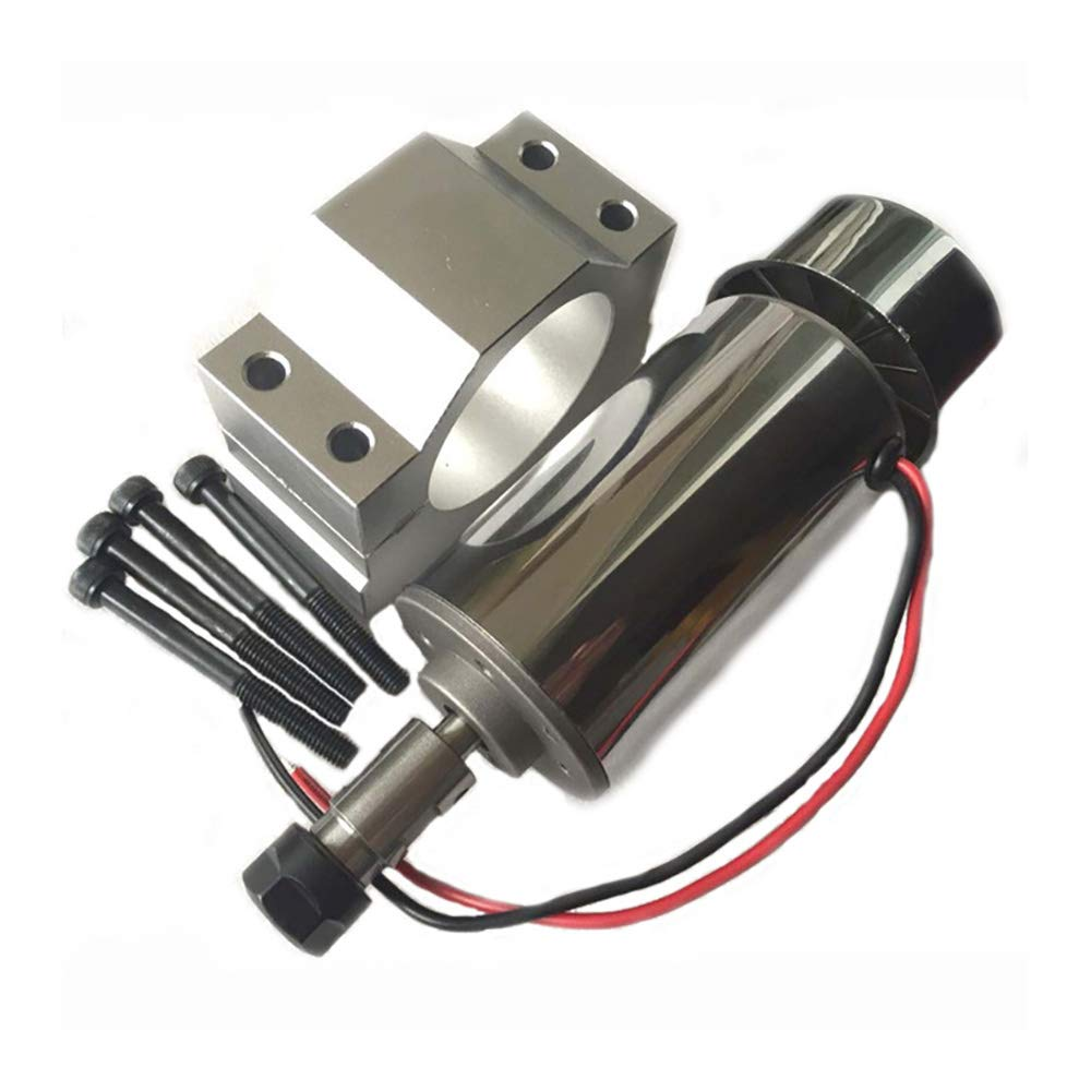 Air Cooled 300W DC Spindle Motor 12-48V DC ER11 Collet CNC Spindle Motor with 52mm DC Spindle Motor Clamp Mount Bracket for PCB CNC Mahine (New 0.3kw CNC Spindle + 52mm Clamp) by crafts man