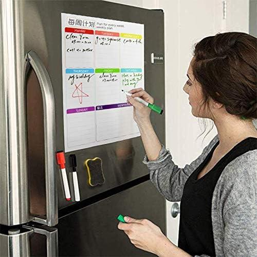 Tischkalender Kalendarien Magnettafel 2019 Kalender Wochentagesplaner Zeitplan Magnete Kühlschrank Kühlschrank To-Do-Liste Organizer for Küche (Color : Vertical version)