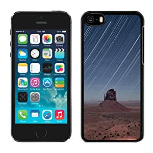 New Beautiful Custom Designed Cover Case For iPhone 5C With Mountain Valley Meteor Shower Landscape Phone Case
