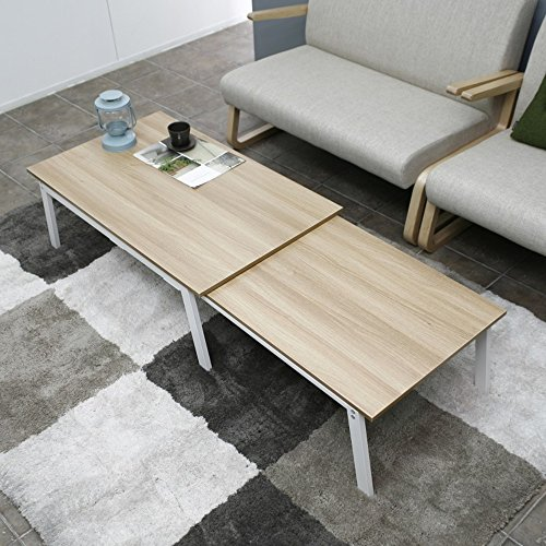 (Feifei Folding Table Home Rectangular Living Room Retractable Multi-Function Table (Color : White))