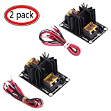 Heat Bed Power Module, General Add-on 3D Printer Hot Bed Power Module Expansion Board High Current Load Module Mos Tube Hotend Replacement with Cables - 2 Pack