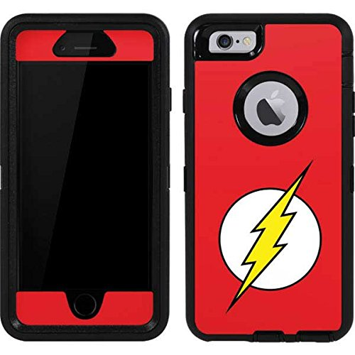 Skinit The Flash Emblem OtterBox Defender iPhone 6 Skin for CASE - Officially Licensed Warner Bros Skin for Popular Cases Decal - Ultra Thin, Lightweight Vinyl Decal Protection (The 6 Iphone Flash Case)