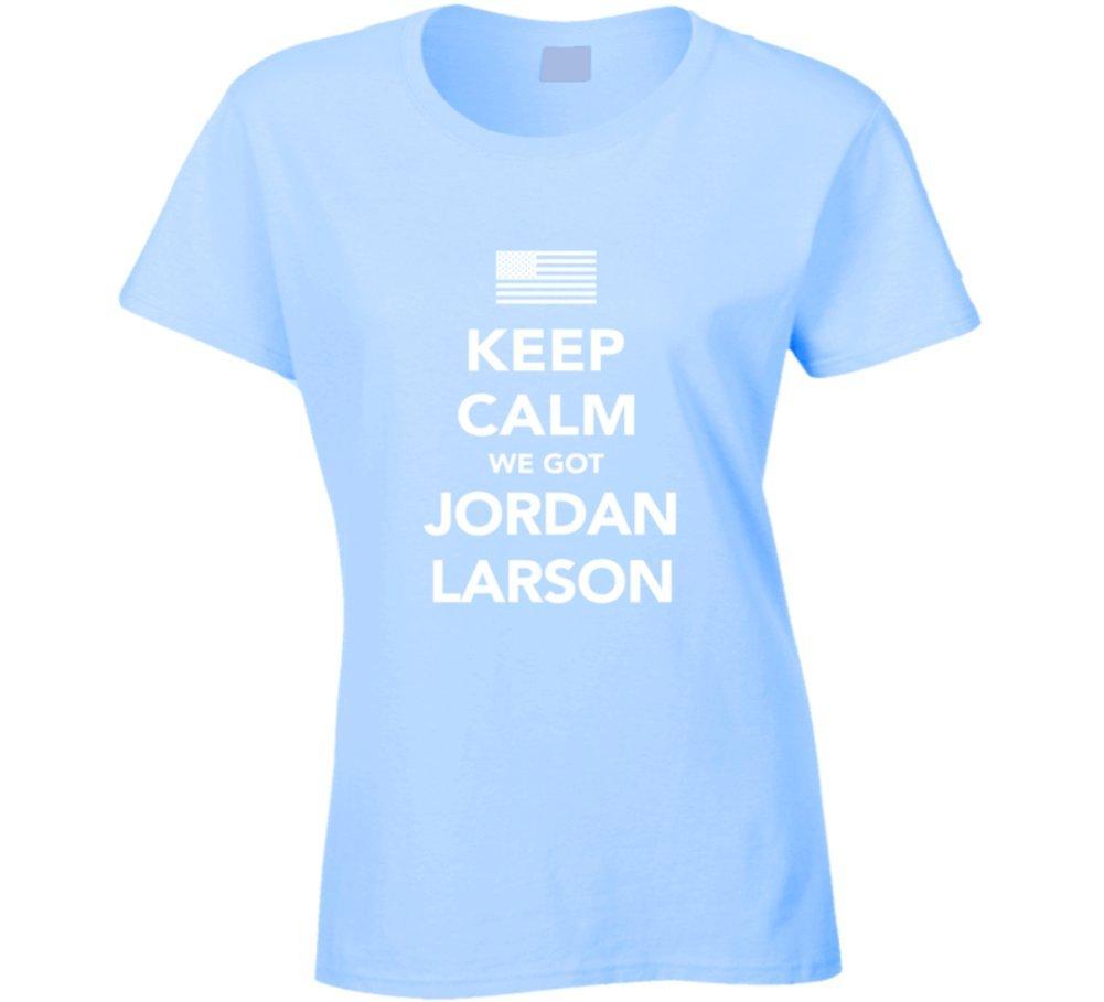 Jordan Larson Keep Calm USa 2016 Olympics Volleyball Ladies T Shirt 2XL Light Blue