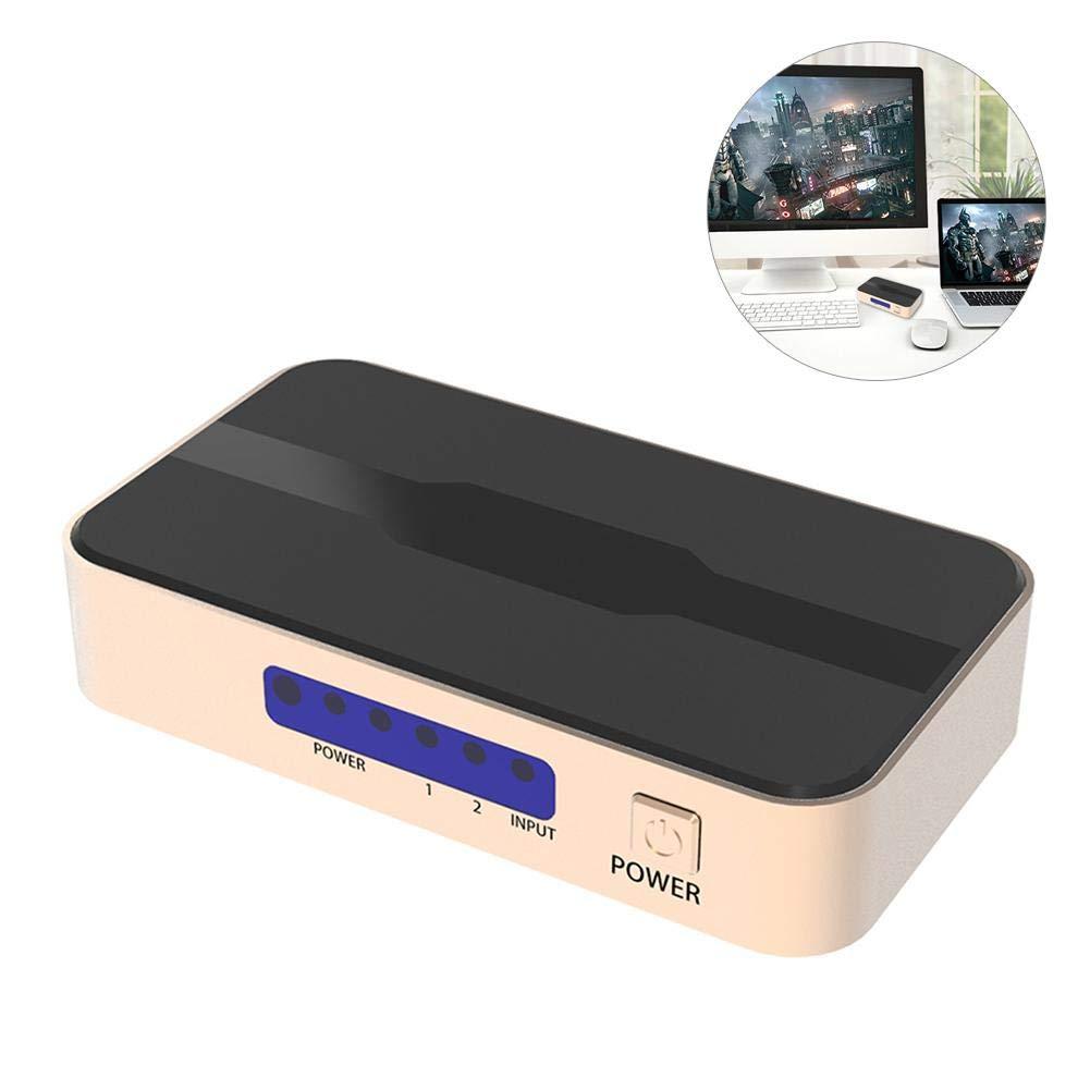 Una1Ellis HDMI Splitter HDMI Converter 5 Entrada 1 Salida 4K y 3D ...