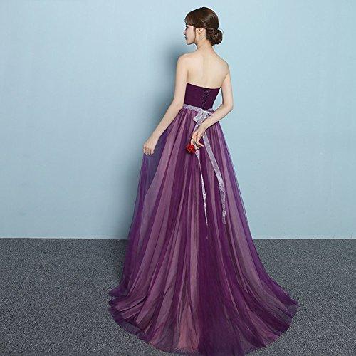 Sweetheart Plissée Femmes » Drasawee Bowknot Robes Nettes De Fête De Bal Bridemaid Violet