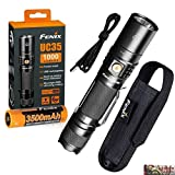 BUNDLE: Fenix UC35 V2.0 2018 Upgrade 1000 Lumens PD35 Rechargeable LED Tactical Flashlight with 3500mAh 18650 Battery, USB Charging Cord and LegionArms sticker