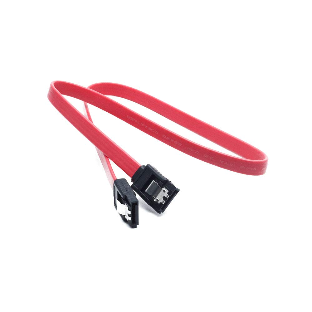 10 Inch Monoprice SATA 6Gbps Straight Cable with Locking Latch Compatible with SSD CD Driver CD Writer Red SATA HDD