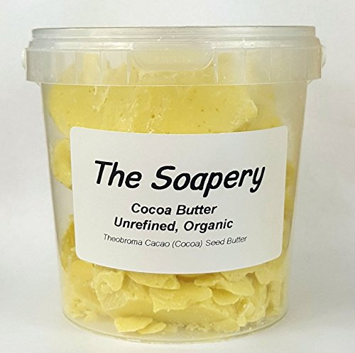 Cocoa Butter 1kg - Certified Organic Raw Unrefined Pure TheSoapery