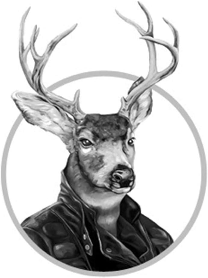 Vikenner Tier Haken Wandhaken aus Harz zum Montiert Schrauben Mantelhaken Vintage f/ür Bad K/üche Huthaken Garderoben Haken Wand Schwarz Nashorn