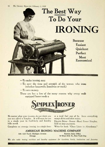 1919 Ad Simplex American Ironing Machine 506-168 N Michigan Ave Chicago IL Home - Original Print Ad (Chicago Ave Il Michigan)