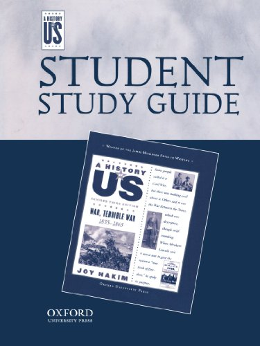 War, Terrible War Middle/High School Student Study Guide, A History of US: Student Study Guide pairs with A History of US: Book Six