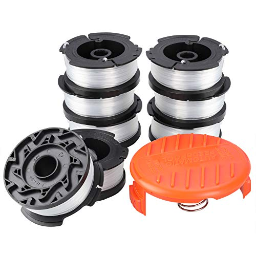 Fostoy Trimmer Line, 8-Pack Line String Trimmer Replacement Autofeed Spool 0.065