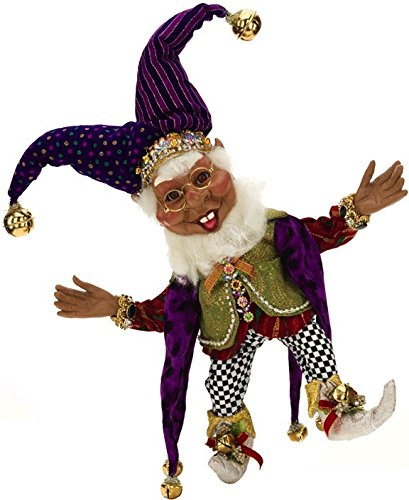 Mark Roberts Elves African American Black Court Jester Elf 16.5 inches Medium 51-68237